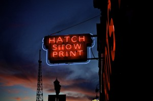 Hatch show prints sign